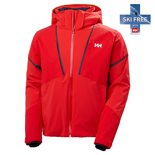 Helly Hansen Freeway Mens Insulated Ski Jacket, Alert Red, 600