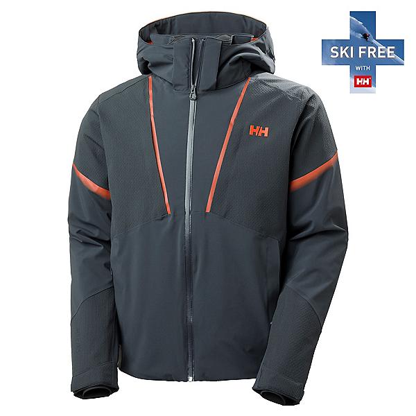 Helly Hansen Freeway Mens Insulated Ski Jacket, Slate, 600