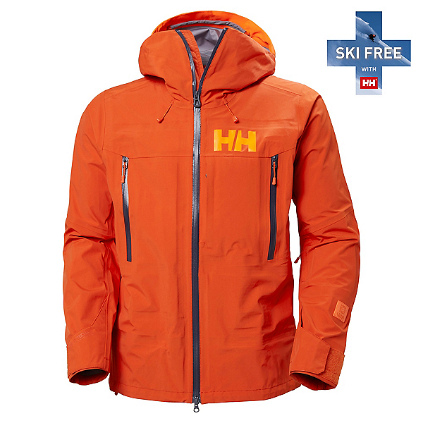 Helly Hansen Sogn Shell 2.0 Mens Shell Ski Jacket, Patrol Orange, 600