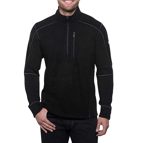 KUHL Interceptr 1/4 Zip Mens Sweater, Black, 600