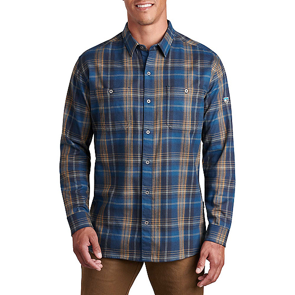 KUHL Fugitive Long Sleeve Flannel Shirt, Blue Copper, 600