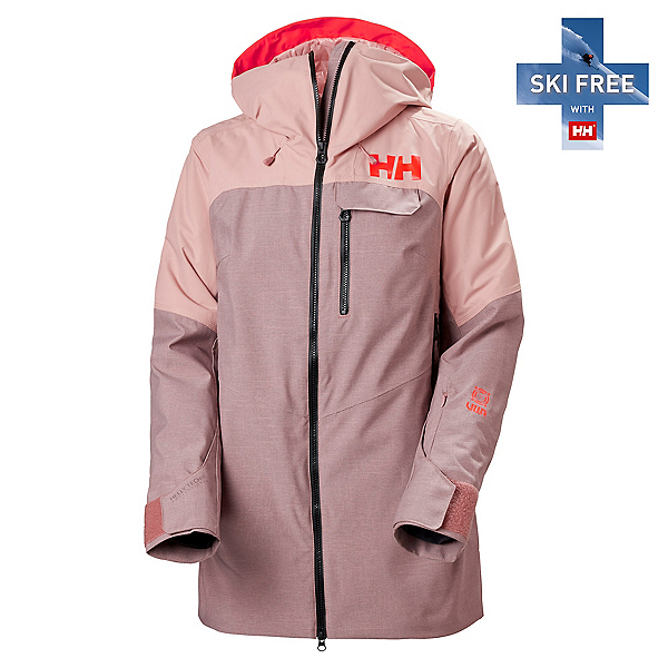 Helly Hansen Whitewall Lifaloft Womens Insulated Ski Jacket, Ash Rose, 600