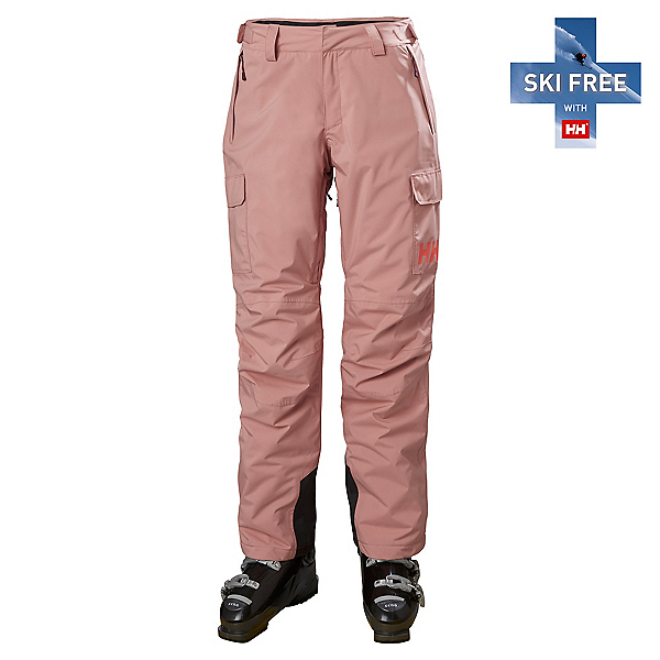 Helly Hansen Switch Cargo Insulated Womens Ski Pants, Ash Rose, 600