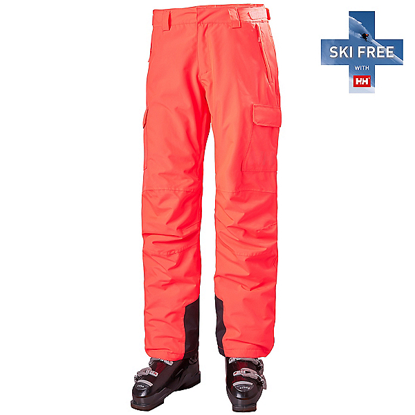 Helly Hansen Switch Cargo Insulated Womens Ski Pants 2022, Neon Coral, 600