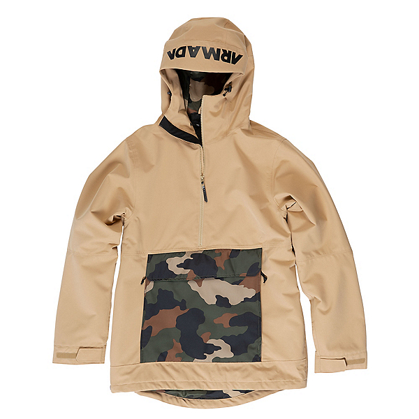 Armada Rawlins Anorak Mens Insulated Ski Jacket, Desert, 600