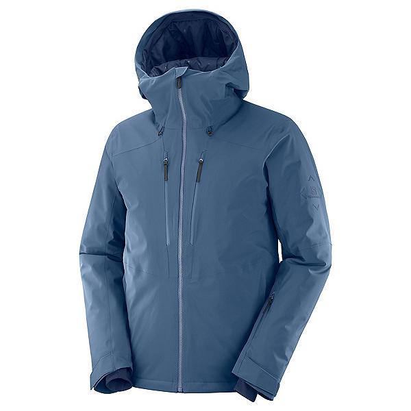 Salomon Highland Mens Insulated Ski Jacket, Dark Denim, 600