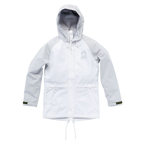 Armada Gypsum Womens Shell Ski Jacket, White-Steel, 600