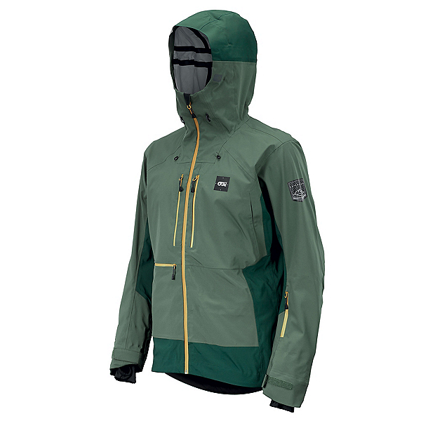Picture Welcome Mens Shell Ski Jacket, Lychen Green, 600