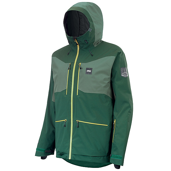 Picture Naikoon Mens Insulated Ski Jacket, Forest Green, 600