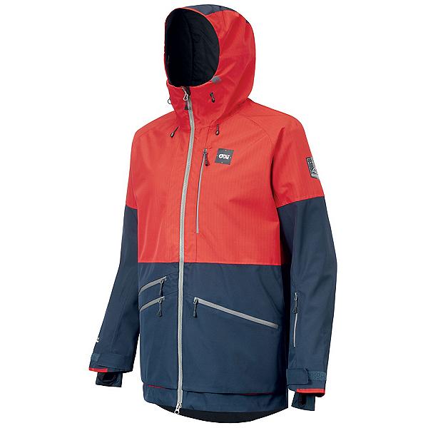 Picture Stone Mens Shell Ski Jacket, Red Dark Blue, 600