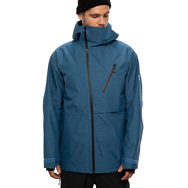 686 Hydra Thermagraph Mens Insulated Snowboard Jacket, Blue Storm Heather, 600