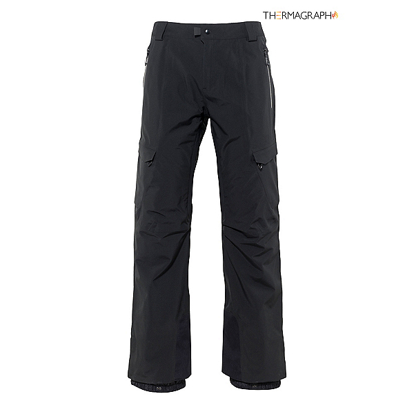 686 Quantum Thermagraph Mens Snowboard Pants, Black, 600