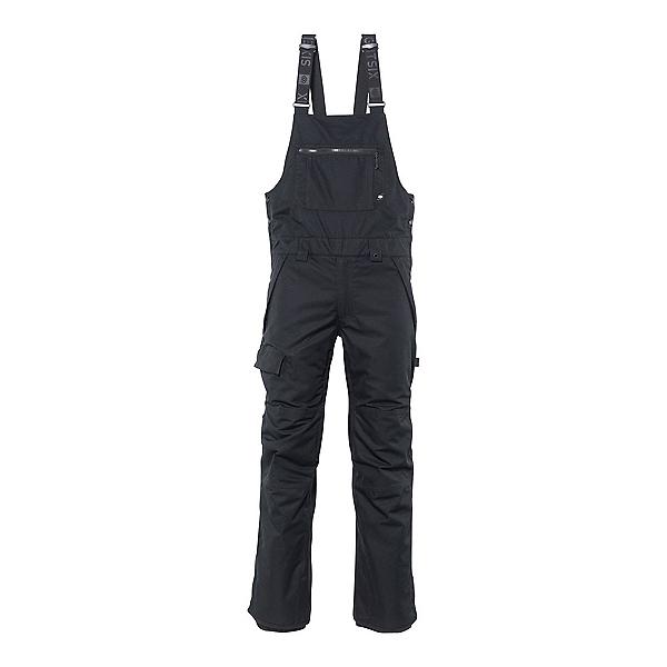 686 Hot Lap Bib Mens Snowboard Pants, Black, 600