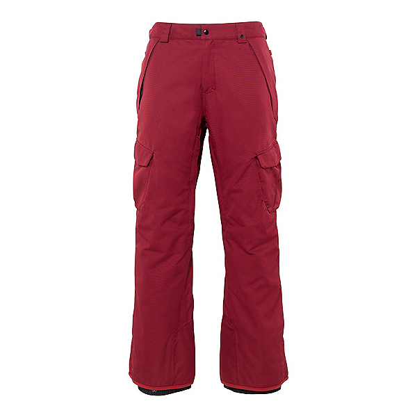 686 Infinity Cargo Mens Snowboard Pants, Oxblood, 600
