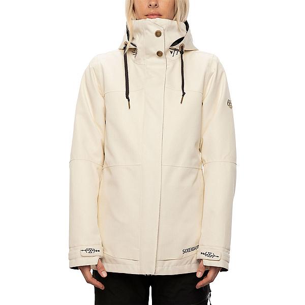 686  Womens Insulated Snowboard Jacket, Birch Diamond Texture, 600