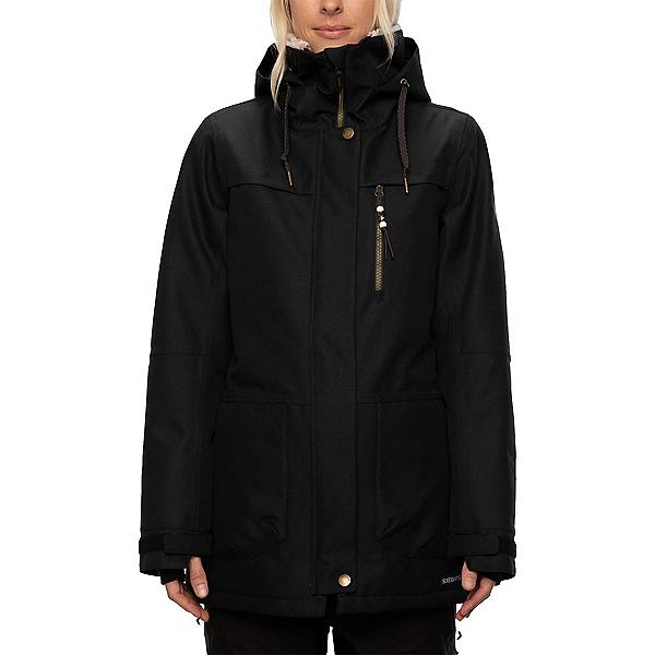 686 Spirit Womens Insulated Snowboard Jacket, Black Diamond Texture, 600