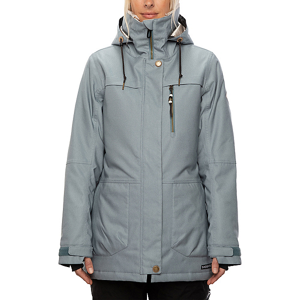 686 Spirit Womens Insulated Snowboard Jacket, Light Blue Denim, 600