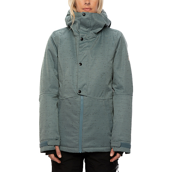 686 Rumor Womens Insulated Snowboard Jacket, Goblin Blue Slub, 600