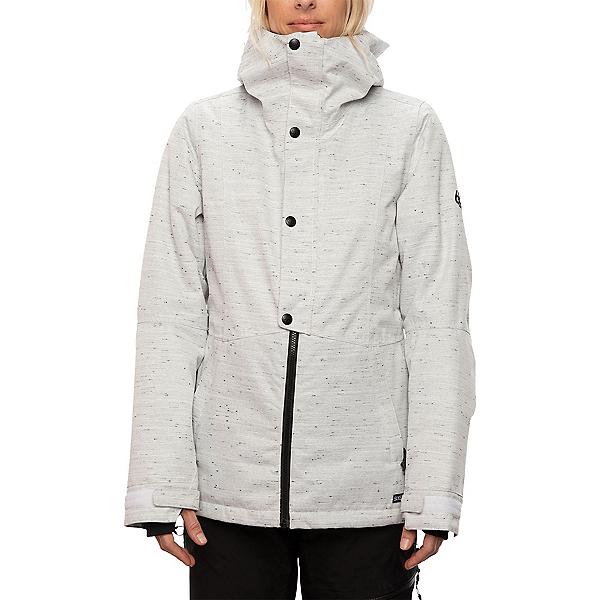 686 Rumor Womens Insulated Snowboard Jacket, White Slub, 600