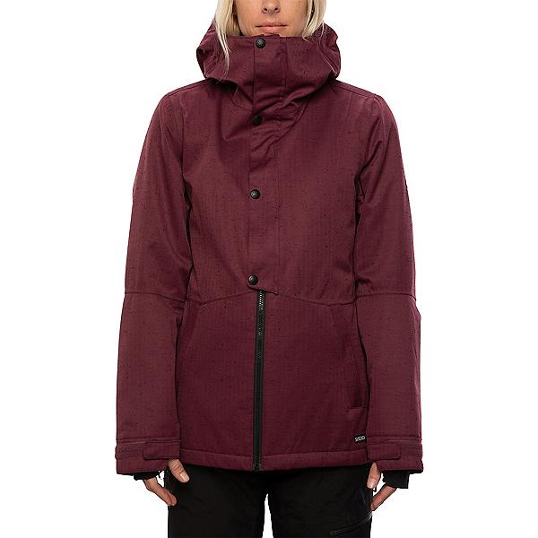 686 Rumor Womens Insulated Snowboard Jacket, Plum Slub, 600