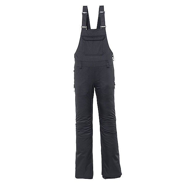686 Black Magic Womens Snowboard Pants, Black Satin Dobby, 600