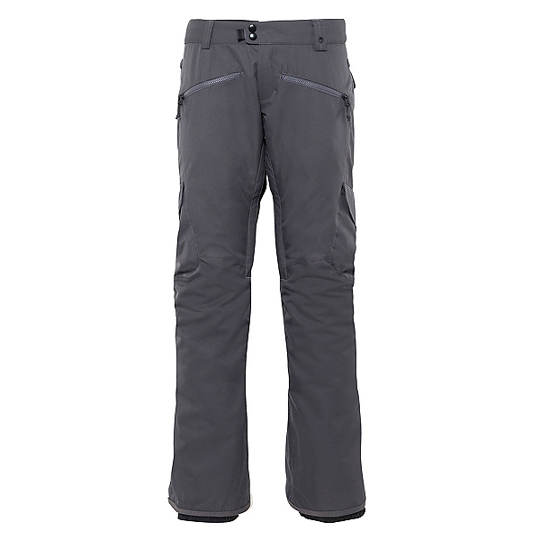 686 Mistress Insulated Cargo Womens Snowboard Pants, Charcoal, 600