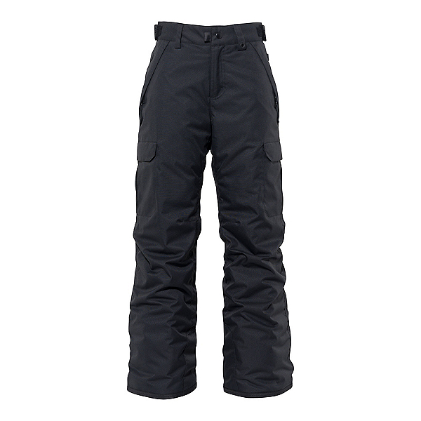 686 Infinity Cargo Kids Snowboard Pants, Black, 600