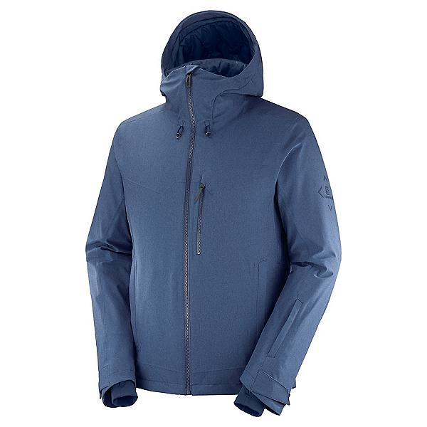 Salomon Untracked Mens Insulated Ski Jacket, Dark Denim-Heather, 600