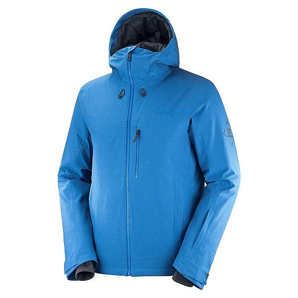 Salomon Untracked Mens Insulated Ski Jacket, Indigo Bunting-Heather-Ebony, 600