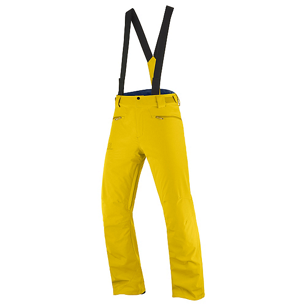 Salomon Stance Short Mens Ski Pants, Lemon Curry, 600