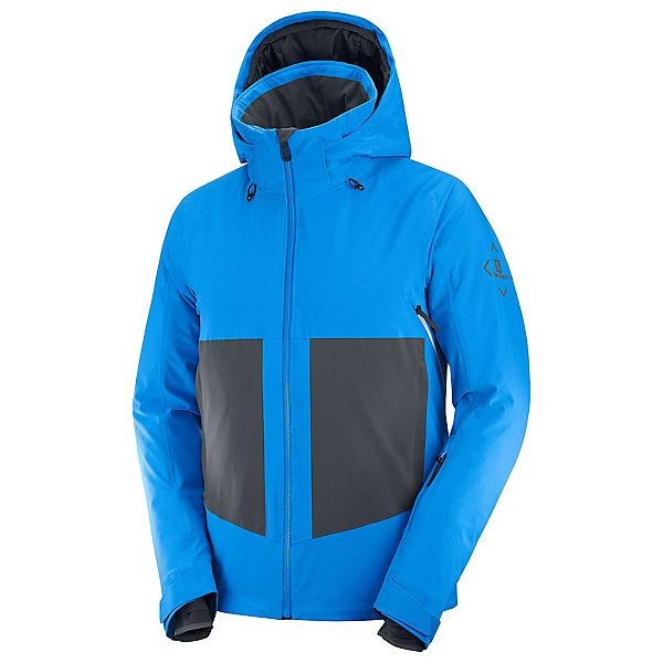 Salomon Epic Mens Insulated Ski Jacket, Indigo Bunting-Ebony-White, 600