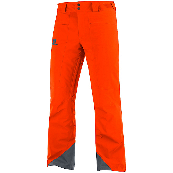 Salomon Brilliant Mens Ski Pants, Red Orange, 600