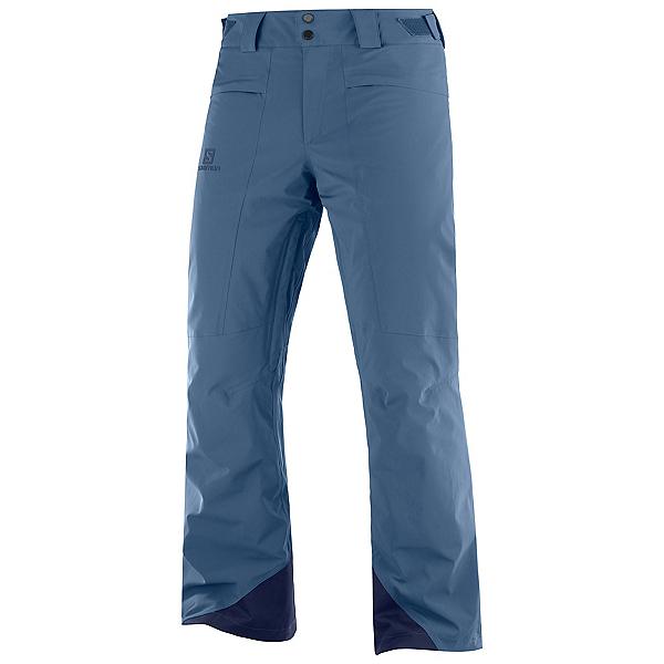 Salomon Brilliant Mens Ski Pants, Dark Denim, 600