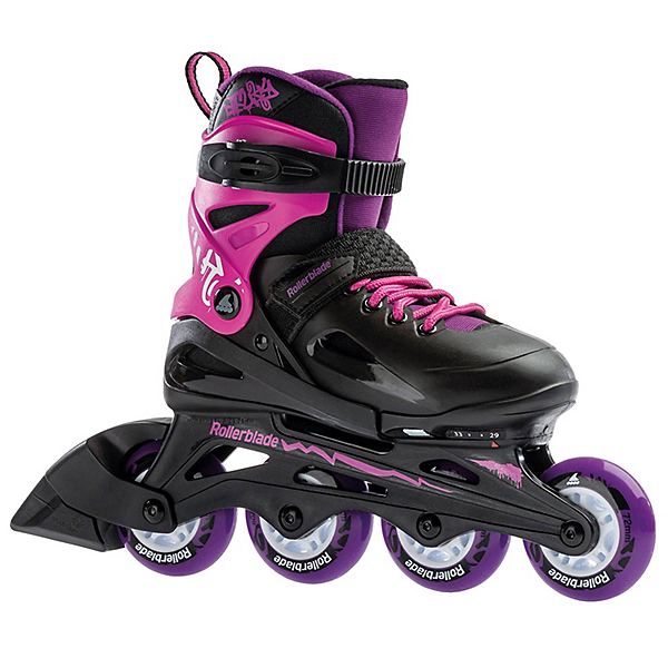 Rollerblade Fury Adjustable Girls Inline Skates 2020, , 600