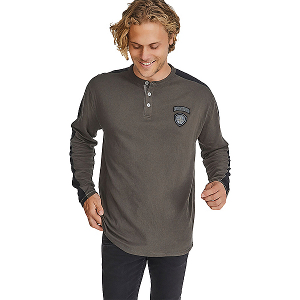 Alpina Derrick Henley Mens Shirt, Bark, 600