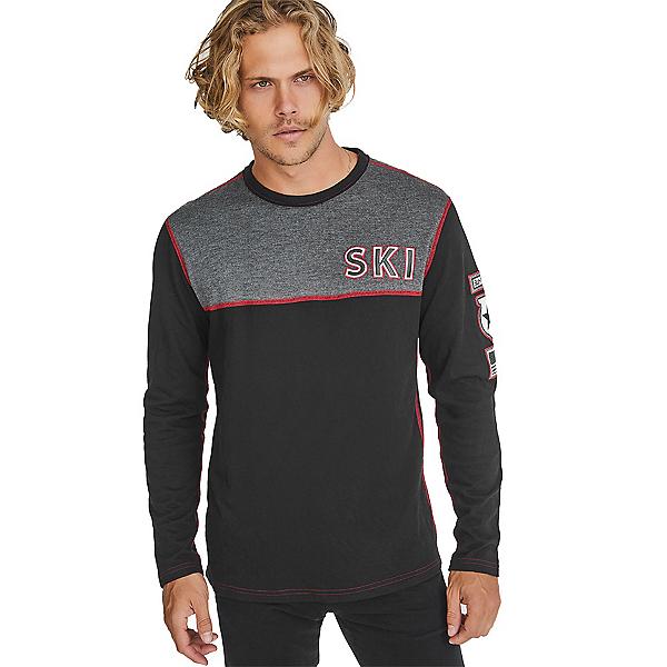 Alpina USA Ski Crew Mens Shirt, Black, 600