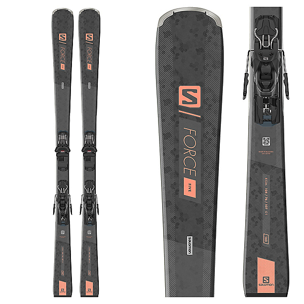 Salomon S/Force 5 Womens Skis with M10 GW Bindings, , 600