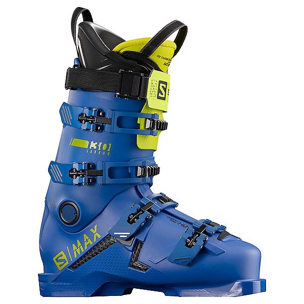 Salomon S/Max 130 Carbon Ski Boots 2021, Race Blue-Acid Green, 600