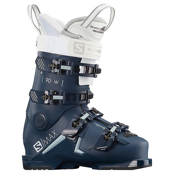 Salomon S/Max 90 Womens Ski Boots 2021, Petrol Blue-Scuba Blue-White, 600