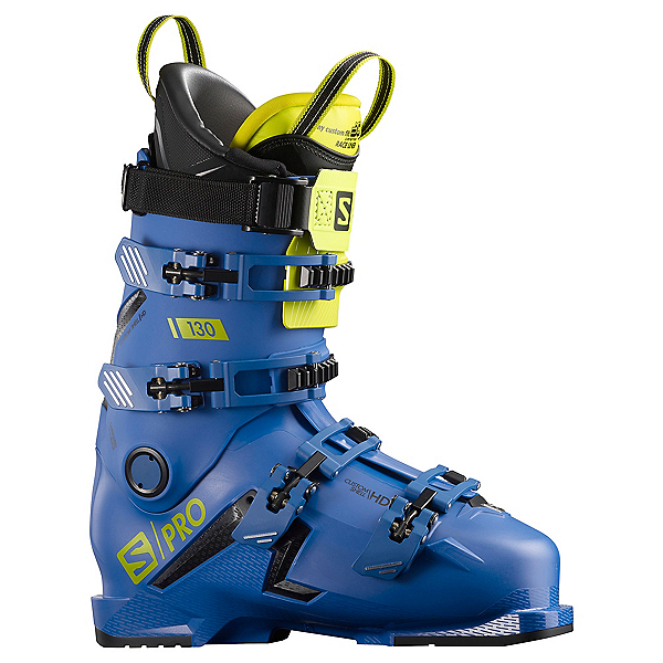 Salomon S/Pro 130 Ski Boots 2021, Race Blue-Black-Acid Green, 600