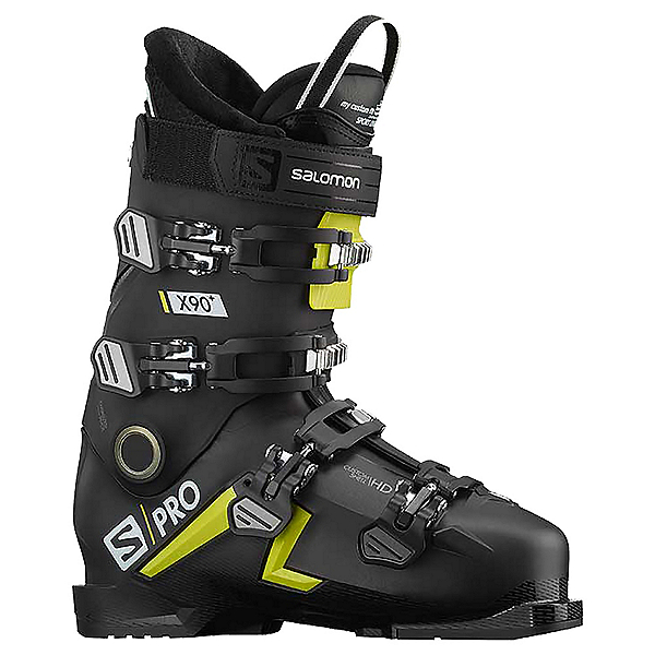 Salomon S/Pro X90 CS Ski Boots, Black-Acid Green-White, 600