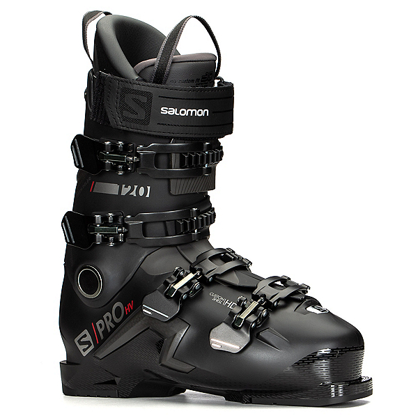 Salomon S/Pro HV 120 Ski Boots, Black-Red-Belluga, 600