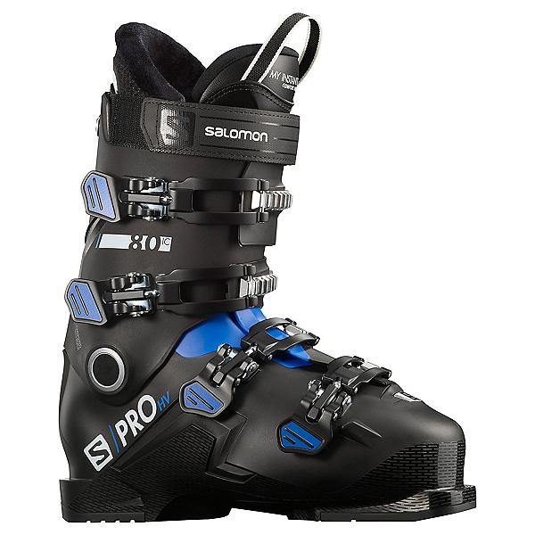 Salomon S/Pro HV 80 IC Ski Boots, Black-Race Blue-White, 600