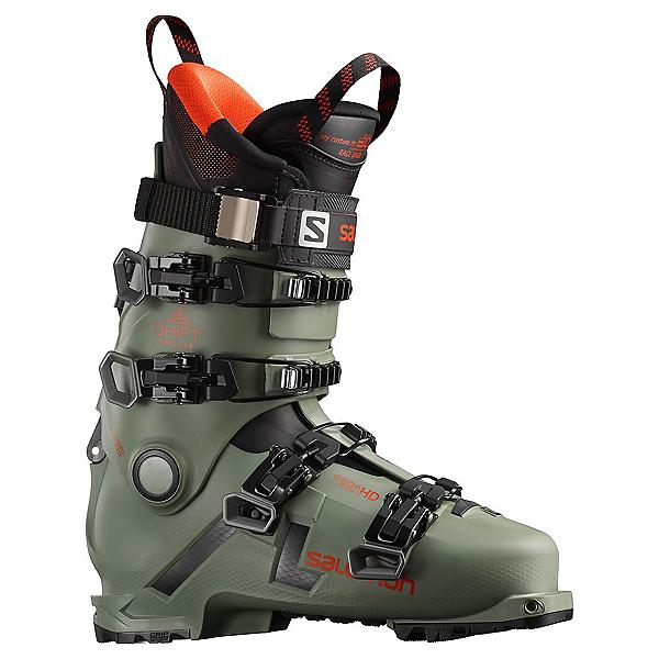 Salomon Shift Pro 130 AT Ski Boots, Oil Green-Black-Orange, 600