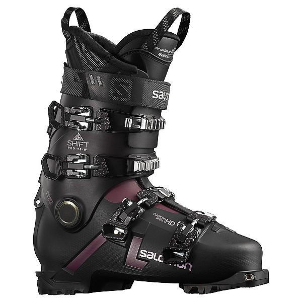 Salomon Shift Pro 90 AT Womens Ski Boots, Black-Burgendy, 600