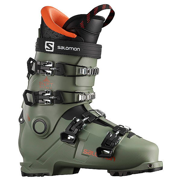 Salomon Shift Pro 80T AT Kids Ski Boots 2021, Oil Green-Black-Orange, 600