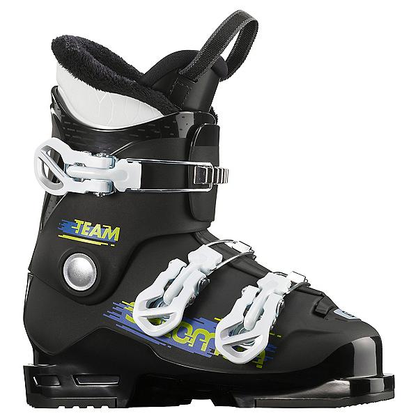 Salomon Team T3 Kids Ski Boots, Black-White, 600