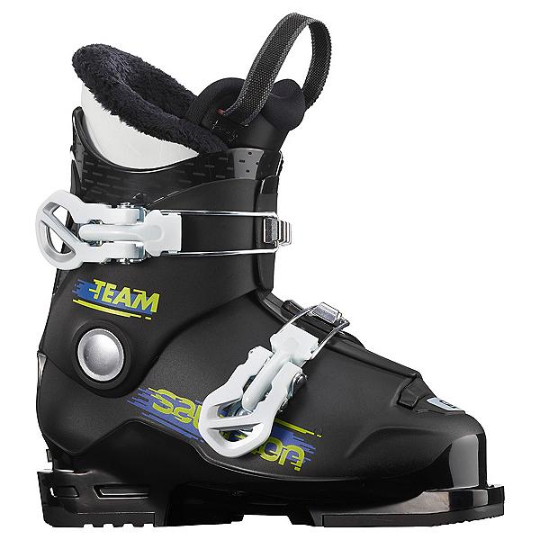Salomon Team T2 Kids Ski Boots, Black-White, 600