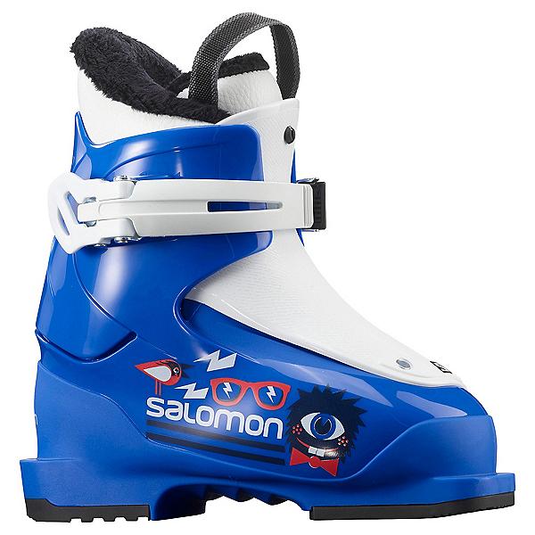 Salomon T1 Kids Ski Boots 2021, Race Blue-White, 600