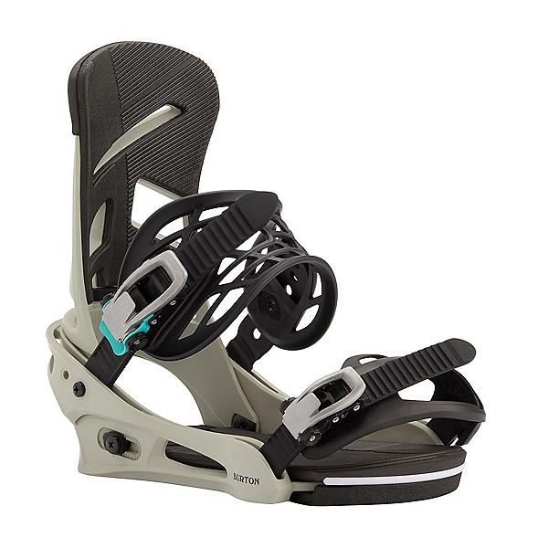 Burton Mission Re:Flex Snowboard Bindings, Gray-Green, 600